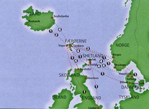 färöarna karta Med husbil i Island 2007 färöarna karta